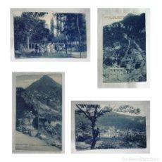 Postales: LOTE POSTALES BIESCAS-PASEO CONCHADA-BARRIO SAN PEDRO-SALTO ESPUMOSO-FUERTE SANTA ELENA. CIRCA 1920. Lote 235169670