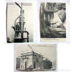 Postales: PPIO. 1900 POSTALES PANTANO DE LA PEÑA HUESCA-ELECTRO-BOMBA-NUEVA ESTACION EDIFICIO VIAJEROS-GRIETA.. Lote 235170910