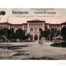 Postales: ZARAGOZA.- FACULTAD DE CIENCIAS. DESPLEGABLE, 12 VISTAS.. Lote 235599495