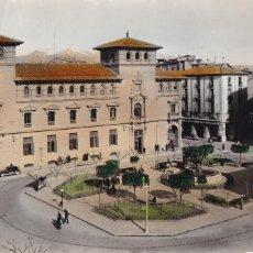 Postais: HUESCA, PLAZA DE NAVARRA. ED. M. ARRIBAS Nº 1002. POSTAL EN BYN COLOREADA. ESCRITA. Lote 236241350