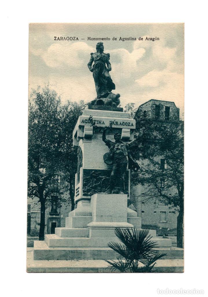 ZARAGOZA.- MONUMENTO DE AGUSTINA DE ARAGÓN. (Postales - España - Aragón Antigua (hasta 1939))