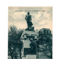 Postales: ZARAGOZA.- MONUMENTO DE AGUSTINA DE ARAGÓN.. Lote 236444535