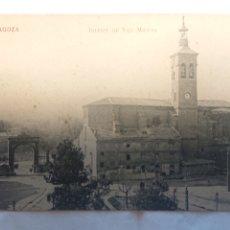 Postales: POSTAL DE ZARAGOZA IGLESIA DE SAN MIGUEL. Lote 236658100