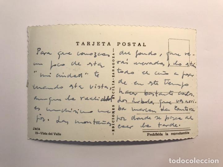 Postales: JACA (Huesca) Postal No.15, Vista del Valle. Edic., Sicilia (h.1960?) Dedicada. - Foto 2 - 236660825