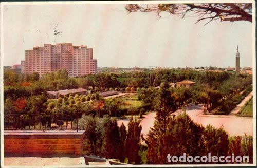 POSTAL ZARAGOZA PARQUE PRIMO DE RIVERA ED. ESPERON 1956 (Postales - España - Aragón Moderna (desde 1.940))