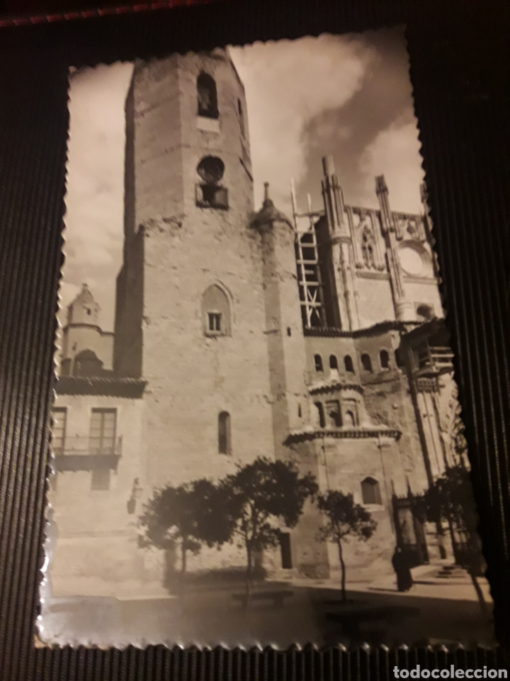 ANTIGUA POSTAL FOTOGRAFÍCA, HUESCA, TORRE DE LA CATEDRAL, (Postales - España - Aragón Moderna (desde 1.940))