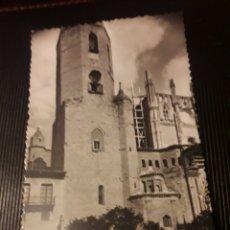 Postales: ANTIGUA POSTAL FOTOGRAFÍCA, HUESCA, TORRE DE LA CATEDRAL,. Lote 237014045