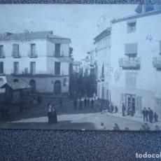 Postales: CASPE ZARAGOZA PLAZA DE LA VIRGEN Y CALLE MAYOR POSTAL FOTOGRÁFICA MUY RARA PRUE. Lote 237326925