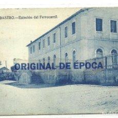 Postales: (PS-64384)POSTAL DE BARBASTRO-ESTACION FERROCARRIL. Lote 237329830
