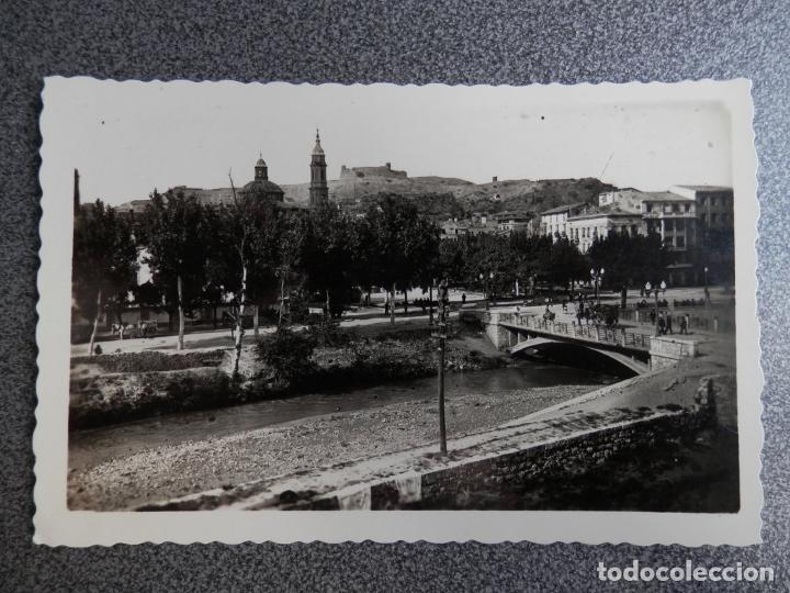 ARAGON ZARAGOZA CALATAYUD PUENTE SOBRE EL RIO JALON POSTAL ANTIGUA (Postales - España - Aragón Antigua (hasta 1939))