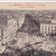 Postais: ZARAGOZA, PLAZA DE LA CONSTITUCION. ED. FOTO ROISIN Nº 10. CIRCULADA. Lote 242389045
