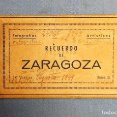 Cartes Postales: ANTIGUO ESTUCHE SERIE II DE 10 POSTALES EN ACORDEON DE ZARAGOZA EDICIONES ARRIBAS. Lote 243975660
