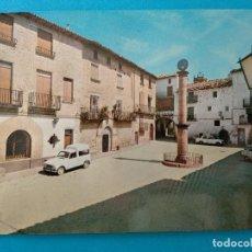 Postales: RETAS, TERUEL.- PLAZA DE ESPAÑA.- EDICION MAGÍ SUÑÉ. RENAULT 4... Lote 244745605