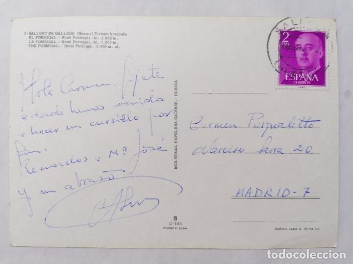 Postales: POSTAL SALLENT DE GALLEGO, HUESCA PIRINEO ARAGONES, HOTEL FORMIGAL, AÑOS 60 - Foto 2 - 244975790
