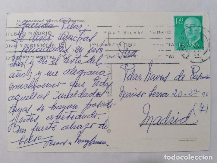 Postales: POSTAL ZARAGOZA, NUESTRA SEÑORA DEL PILAR, AÑOS 60 - Foto 2 - 244976060