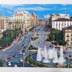 Postales: POSTAL ZARAGOZA, PLAZA DE PARAISO Y AVDA DE LA INDEPENDENCIA, AÑOS 60. Lote 244976255