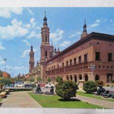 Postales: POSTAL ZARAGOZA, PLAZA DE NTRA SRA DEL PILAR, AÑOS 60. Lote 244976420