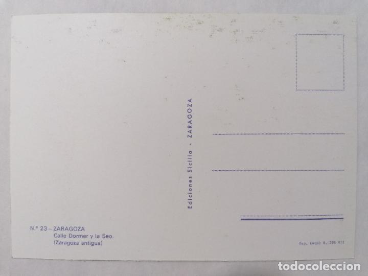 Postales: POSTAL ZARAGOZA, CALLE DORMER Y LA SEO, AÑOS 60 - Foto 2 - 244976790