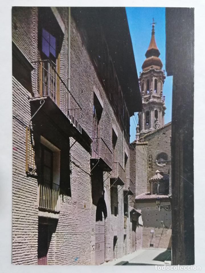 POSTAL ZARAGOZA, CALLE DORMER Y LA SEO, AÑOS 60 (Postales - España - Aragón Moderna (desde 1.940))