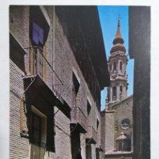 Postales: POSTAL ZARAGOZA, CALLE DORMER Y LA SEO, AÑOS 60. Lote 244976790