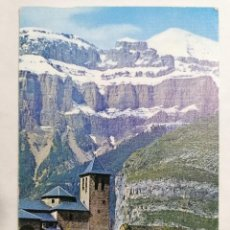 Postales: POSTAL TORLA, VALLE DE ORDESA, PIRINEO ARAGONES, IGLESIA PARROQUIAL, AÑOS 60. Lote 244976995