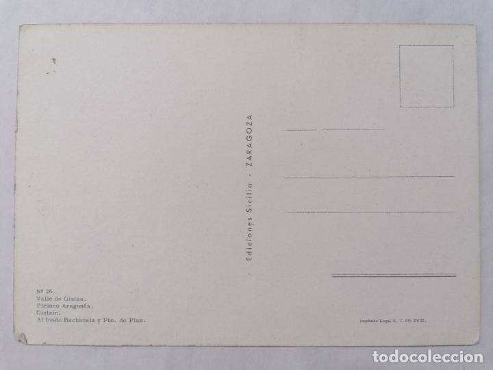 Postales: POSTAL TORLA, VALLE DE GISTAU, PIRINEO ARAGONES, AÑOS 60 - Foto 2 - 244977235
