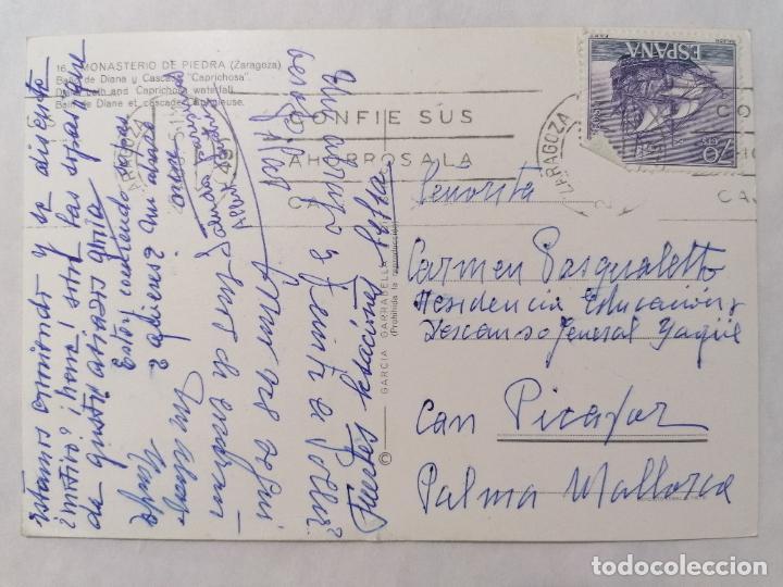 Postales: POSTAL MONASTERIO DE PIEDRA, BAÑO DE DIANA Y CASCADA CAPRICHOSA, AÑOS 60 - Foto 2 - 244977605