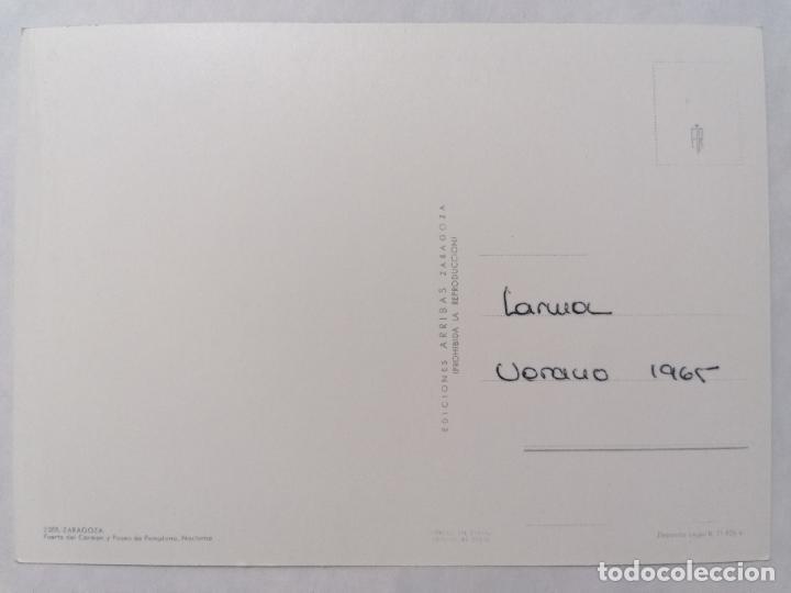 Postales: POSTAL ZARAGOZA, PUERTA DEL CARMEN Y PASEO DE PAMPLONA, AÑOS 60 - Foto 2 - 244977930
