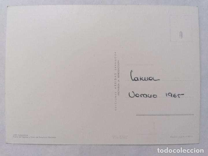 Postales: POSTAL ZARAGOZA, PUERTA DEL CARMEN Y PASEO DE PAMPLONA, AÑOS 60 - Foto 2 - 244977995