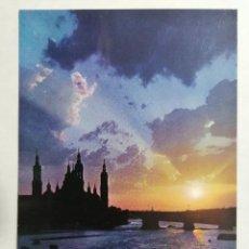 Postales: POSTAL ZARAGOZA, PUESTA DE SOL, SUNSET, AÑOS 60. Lote 244978320