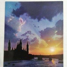 Postales: POSTAL ZARAGOZA, PUESTA DE SOL, SUNSET, AÑOS 60. Lote 244978355
