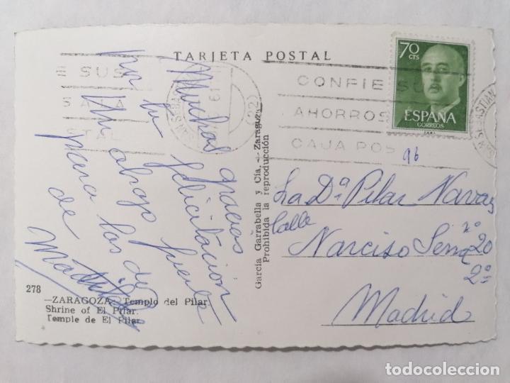 Postales: POSTAL ZARAGOZA, TEMPLO DEL PILAR, AÑOS 60 - Foto 2 - 244978975
