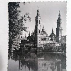 Postales: POSTAL ZARAGOZA, TEMPLO DEL PILAR, AÑOS 60. Lote 244978975