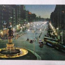 Postales: POSTAL ZARAGOZA, PLAZA DE ESPAÑA Y AVDA DE LA INDEPENDENCIA, AÑOS 60. Lote 244979155
