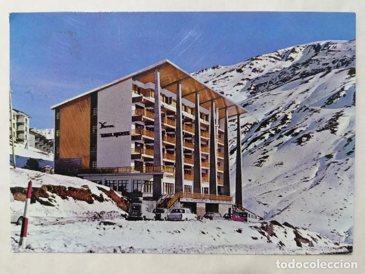 POSTAL HOTEL EDELWEISS, ESTACION INVERNAL, AÑOS 70 (Postales - España - Aragón Moderna (desde 1.940))