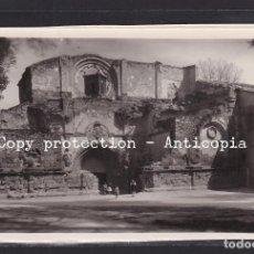 Postales: POSTAL DE ESPAÑA - 4 MONASTERIO DE PIEDRA (ZARAGOZA): FACHADA DE LA ANTIGUA IGLESIA. Lote 245053865