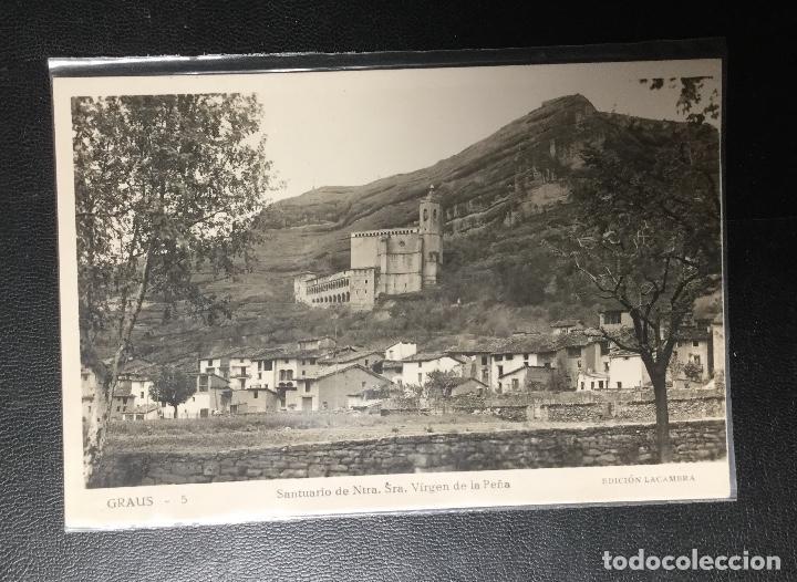 GRAUS , HUESCA , SANTUARIO VIRGEN DE LA PEÑA , FOTOGRÁFICA . EDICION LACAMBRA (Postales - España - Aragón Antigua (hasta 1939))