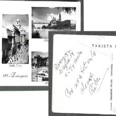 Postales: POSTAL * ZARAGOZA , VISTAS * ED . SICILIA ( AÑO 1954 ). Lote 246222715