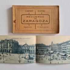 Postales: BLOC 20 POSTALES RECUERDO DE ZARAGOZA CARNET POSTAL SEGUNDA SERIE - ARAGÓN. Lote 246576710