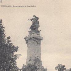 Postais: (608) POSTAL ZARAGOZA - MONUMENTO A LOS SITIOS - CASA CESARAUGUSTA - SIN CIRCULAR. Lote 248460685