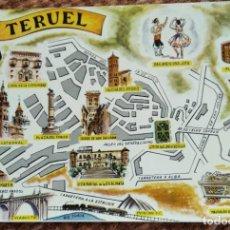 Postais: TERUEL - PLANO - MAPA. Lote 248464550