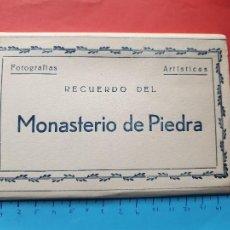 Postales: RECUERDO DEL MONASTERIO DE PIEDRA - ACORDEON DE 10 POSTALES -- ( BLOCK 2021 ). Lote 251474715