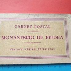 Postales: CARNET POSTAL ' MONASTERIO DE PIEDRA ' ( 15 POSTALES ) -- ( BLOCK 2021 ). Lote 251476715