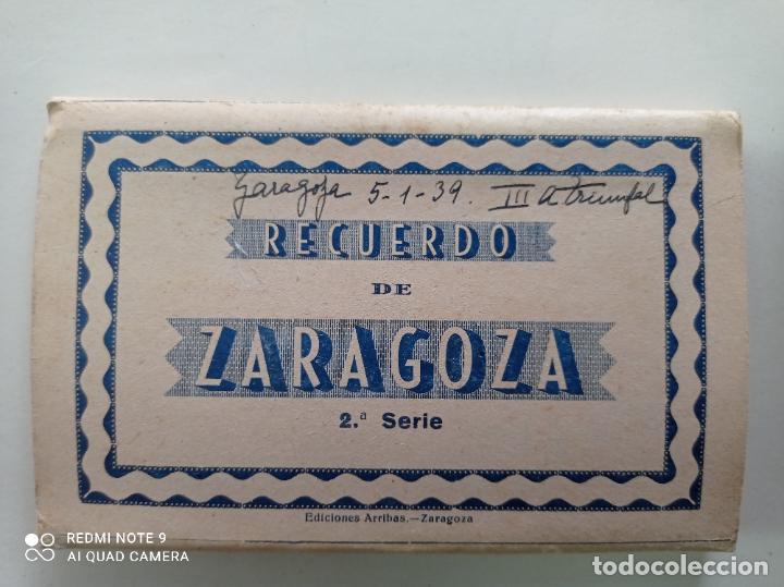 ZARAGOZA. BLOCK DE 10 POSTALES SEGUNDA SERIE. EDICIONES ARRIBAS, ZARAGOZA (Postales - España - Aragón Antigua (hasta 1939))