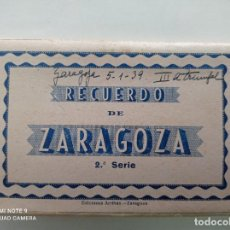 Postales: ZARAGOZA. BLOCK DE 10 POSTALES SEGUNDA SERIE. EDICIONES ARRIBAS, ZARAGOZA. Lote 252237610