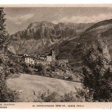 Postales: POSTAL. TORLA 27 - 1021 MT. (HUESCA) PIRINEO, EL MONDARRUEGO 2849 MT., DESDE TORLA. S/C. ZERKOWITZ. Lote 253818510