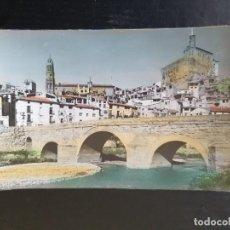 Postales: ALBALATE DEL ARZOBISPO. TERUEL. POSTAL COLOREDA. PUENTE Y VISTA PARCIAL. Lote 254497350