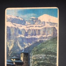 Postales: POSTAL DE MADERA RECUERDO DE TORLA - HUESCA. Lote 254982095
