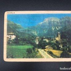 Postales: POSTAL DE MADERA RECUERDO DE TORLA - HUESCA. Lote 254983175