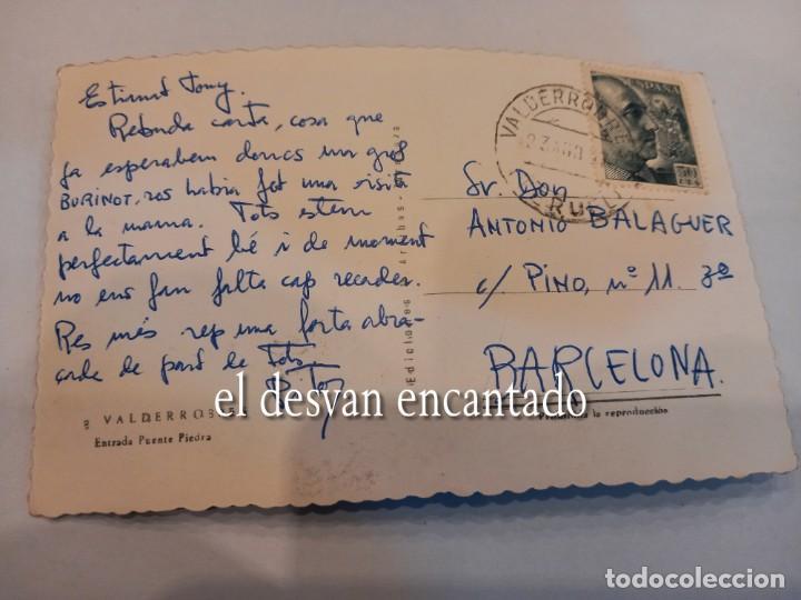 Postales: VALDERROBRES. Entrada Puente Piedra - Foto 2 - 255407725